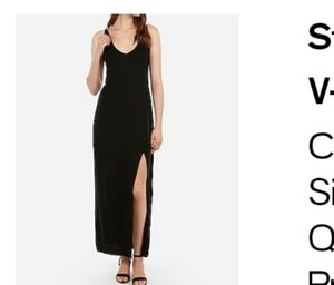 Express maxi dress with strappy back and frint sli